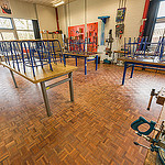 Mozaiekvloer technieklokaal