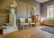 Eiken vloer in showroom